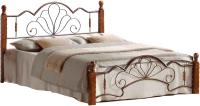 Двуспальная кровать Грифонсервис КД10-1 (коричневый/черный) -
