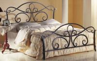 Двуспальная кровать Грифонсервис КД12 (черный/золото) -