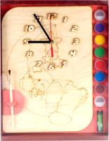 Набор для творчества Нескучные игры Мишутка. Часы с циферблатом / ДНИ112 -