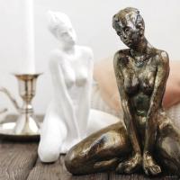 Статуэтка Нашы майстры Молодая девушка / 1043 (белый) -