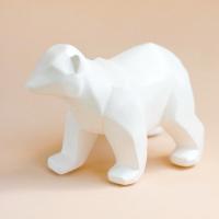 Статуэтка Нашы майстры Медведь геометрический / 9008 (белый) -
