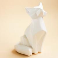 Статуэтка Нашы майстры Лис геометрический / 9007 (белый) -
