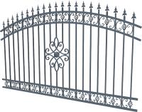 Забор кованый Грифонсервис ЗО1 (черный в золоте) -
