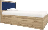 Полуторная кровать Сакура Майами №12М (дуб ирландский/синий) -