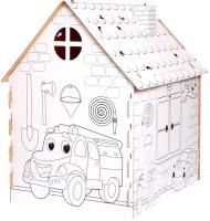 Детский игровой домик Zabiaka Дом-раскраска. Пожарная станция / 5091382 -