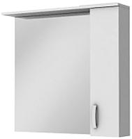 Шкаф с зеркалом для ванной Ювента БфШНЗ1-87 (белый, правый) -