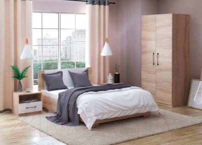 Односпальная кровать Империал Аврора 90 (дуб сонома/белый)