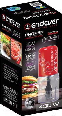 Измельчитель-чоппер Endever Sigma-64 (красный)
