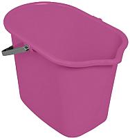 Ведро York Прямоугольное 10л (розовый) -