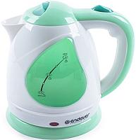 Электрочайник Endever Skyline KR-349 (белый/зеленый) -