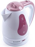 Электрочайник Endever Skyline KR-351 (белый/розовый) -