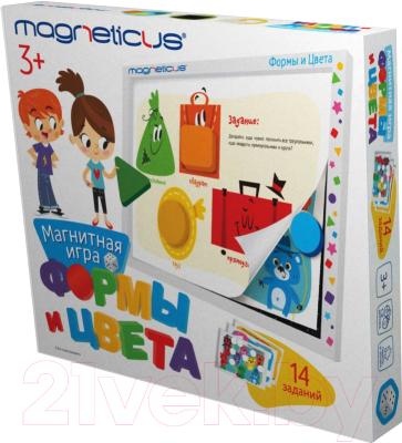 Развивающая игра Magneticus Мягкая магнитная азбука. Формы и цвета / POL-011