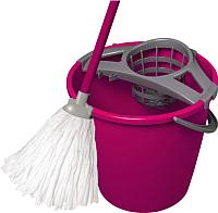Набор для уборки пола York Set с круглым ведром (10л, розовый) -