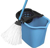 Набор для уборки York Set с прямоугольным ведром (10л, голубой) -