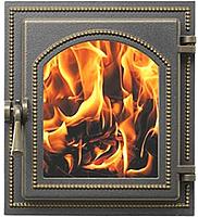 Дверца каминная Везувий 220 (бронзовый) -