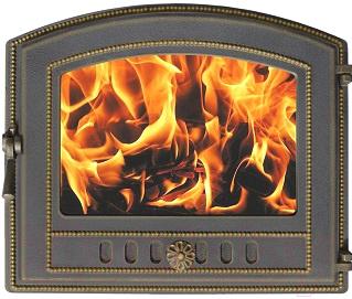 Дверца печная Везувий 224 (бронзовый)