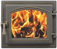 Дверца печная Везувий 260 (бронзовый) -