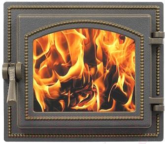 Дверца печная Везувий 260 (бронзовый)