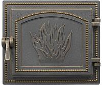 Дверца печная Везувий 261 (бронзовый) -