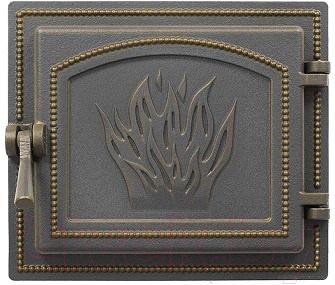 Дверца печная Везувий 261 (бронзовый)