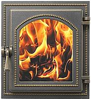 Дверца каминная Везувий 270 (бронзовый) -