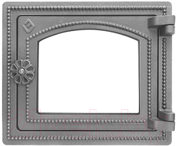 Дверца печная Везувий ДТ-3С (неокрашенная, без стекла)