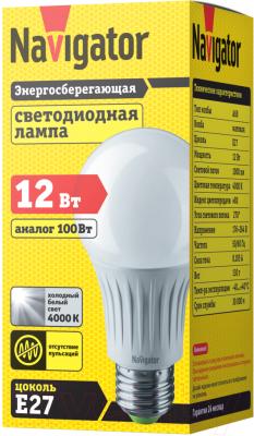 Лампа Navigator NLL-A60-12-230-4K-E27