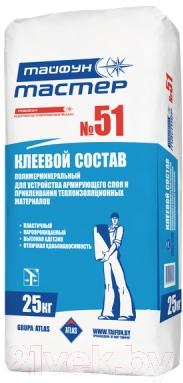 Клей для теплоизоляционных плит Тайфун Мастер №51 (25кг)