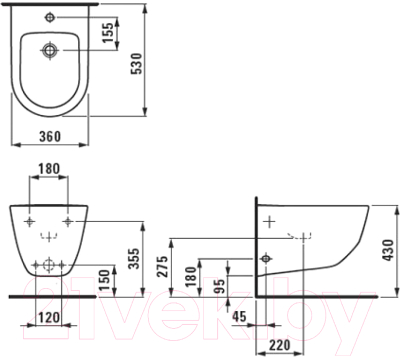 Биде подвесное Laufen Pro 309520003041