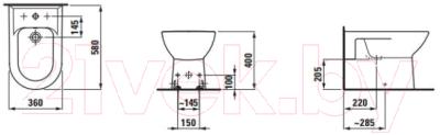 Биде напольное Laufen Pro 329510003041