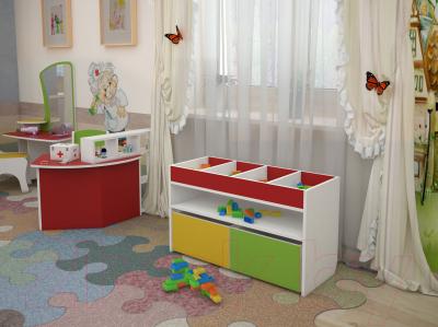 Двухъярусная кровать детская Славянская столица Д-КрД (белый/зеленый)