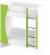 Двухъярусная кровать детская Славянская столица ДУ-КД2 (белый/зеленый) -