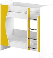 Двухъярусная кровать Славянская столица ДУ-КД2 (белый/желтый) -