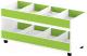 Стеллаж игровой Славянская столица ДУ-СМ4 (белый/зеленый) -
