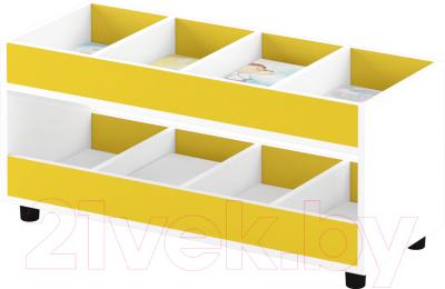 Стеллаж игровой Славянская столица ДУ-СМ4 (белый/желтый)