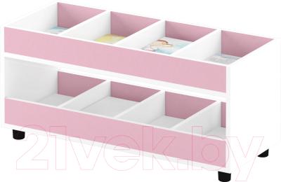 Стеллаж игровой Славянская столица ДУ-СМ4 (белый/розовый)