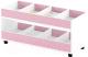 Стеллаж игровой Славянская столица ДУ-СМ4 (белый/розовый) -