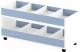 Стеллаж игровой Славянская столица ДУ-СМ4 (белый/синий) -