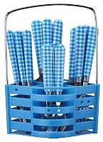 Набор столовых приборов Peterhof PH-22118 (синий) -