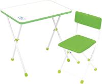 Комплект мебели с детским столом Ника НДУ1/С Умка фантазер (салатовый) -