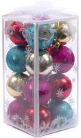Набор шаров новогодних Белбогемия NY13438 / 92274 (16шт) -