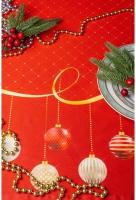 Дорожка на стол Listelle Новогодний серпантин 35201 -