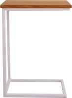 Приставной столик BestLoft 1642-46/WH (белый/дуб натуральный) -