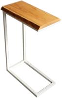 Приставной столик BestLoft 10399-47/WH (белый/дуб натуральный с обзолом) -