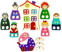 Пальчиковый кукольный театр Крона Пальчиковый набор. Семейка / 170-012 -