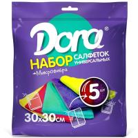 Комплект салфеток хозяйственных Dora Универсальная 30x30см (5шт) -