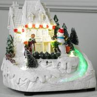 Световая фигурка Luazon Снеговик и дети 5133413 (т/белый) -