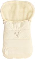 Конверт детский Alis 90x45 (курточная ткань, мех, молочный) -