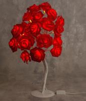 Светодиодное дерево Luazon Розы красные 4445711 (т/белый) -