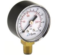 Манометр сантехнический RBM Радиальный 1/4 0-16 Bar d50 -